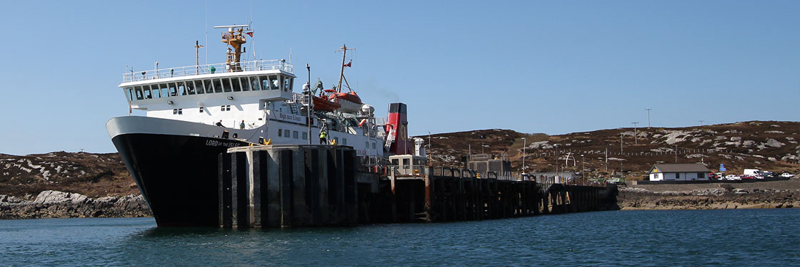 MV Lord of The Isle at Coll Pier